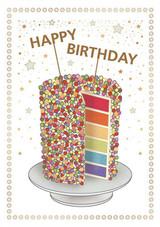 Rainbow Cake Birthday Card