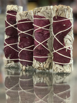 White California Sage + Rose Petal Smudge Stick