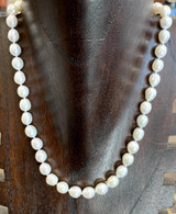 """Baroque Freshwater White Pearl Necklace, 18"""""""