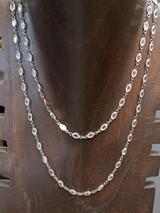 White Topaz + Darkened Sterling Silver Necklace