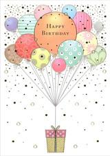 Balloons & Gift Birthday Card
