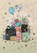 Gifts & Balloons Birthday Card
