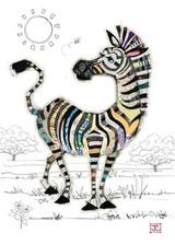 Zoe Zebra Card