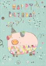 Piggie Birthday Card
