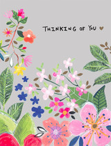 """""""Thinking of You"""" Flowers Friendship Card"""