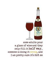 Wine Half Glass Friendship Card