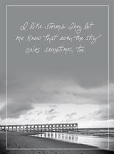 Clouds of Tears Sympathy Card