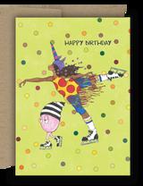 Unicorn Ice Capades Birthday Card