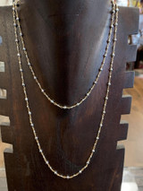 """Silver Hematite 14k Gold Filled 36"""" Necklace, Lobster Clasp"""