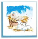 Baby Jesus in Manger Christmas Card, Blank