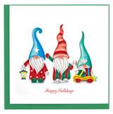 Holiday Gnomes Card, Blank
