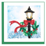 Holiday Lamp Post Card, Blank