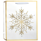 Luxe Snowflake, Large Tote Bag