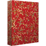 Ornate Christmas Stars, Jumbo Wrap Roll - 8ft