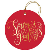 Lustrous Season's Greetings Gift Tag, 6 pieces