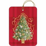 Golden Tannenbaum Gift Tag, 6 pieces