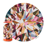 Multifaceted Diamond Abstract Round - 1000 Piece Jigsaw Puzzle