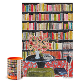 Books with Flowers Library - 300 Piece Jigsaw Puzzle