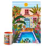 Oasis Pool Tiger - 300 Piece Jigsaw Puzzle