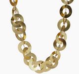 "Rihana Necklace, 24""-26"" adjustable - 18K Gold over Brass"