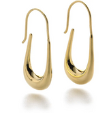 """Cypriot 18k Gold Finished Hoop Earrings, 1.5"""""""