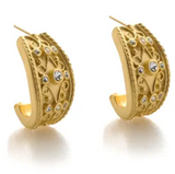 Cypriot Shield Earrings, Post