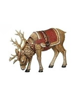 Majestic Reindeer with Red Saddle