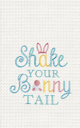 Shake Your Bunny Tail Kitchen Towel