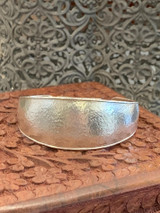 """Mango Graduated Sterling Silver Cuff """"Kissed"""" with 24K Gold"""