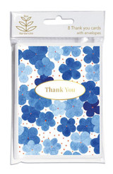 Blue Hydrangea Thank You Cards (Pack of 8)