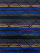 """Lines + Rectangles Cashmere Scarf, 11.5"""" x 72"""", Reversible"""