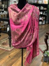 Fuchsia Garden Pashmina + Silk Wrap