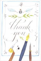 Fountain Pen Thank You Card