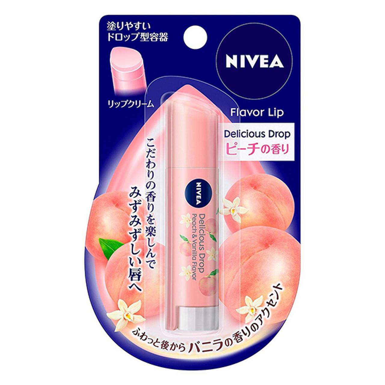 Nivea Delicious Drop Peach Lip Balm   果味潤唇膏蜜桃味SPF 11 3.5g - MikoPlace U.K.-  Premium Asian Product to U.K.