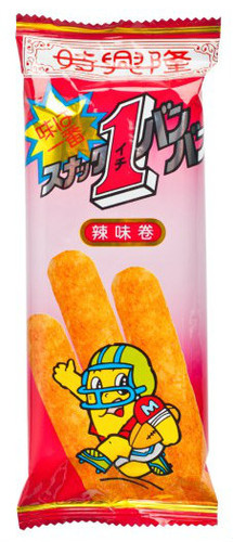 SZE HING LOONG Corn Roll Hot & Spicy Flavor   時興隆 辣味卷 15G