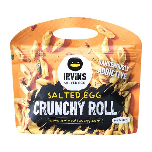 IRVINS - Crunchy Roll Salted Egg Flavor   新加坡 鹹蛋脆皮卷 120g
