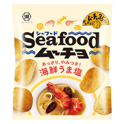 Koikeya Seafoods Flavor Potato Chips | 湖池屋 海鮮鹽味薯片  55g