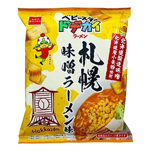 OYATSU Dodekai Ramen Miso Ramen Flavor   童星 闊條麵 札幌味噌拉麵味 66G