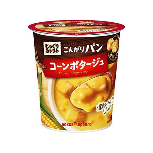 Pokka Sapporo Corn soup with Breadcrumbs | 玉米濃湯杯-超大塊麵包丁 31.4g