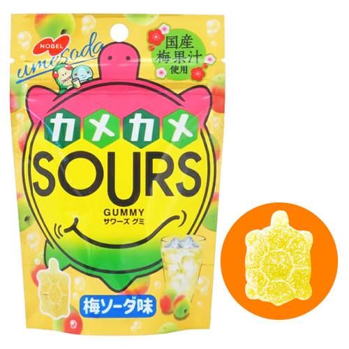 NOBEL SOUR Plum Soda Candy | 諾貝爾 烏龜型軟糖 梅梳打味 45g
