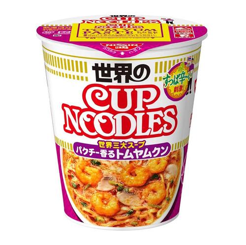 NISSIN Cup Noodles Tom Yum Shrimp  Flavor | 日清杯麵 冬蔭功蝦仁味 75g