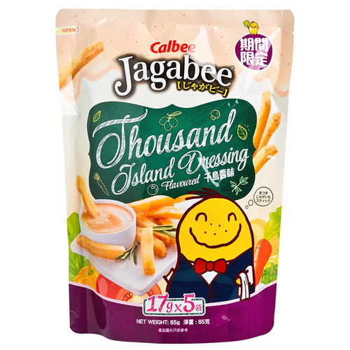 JAGABEE Potato Sticks Thousand Island Dressing Favor | 宅卡B 薯條 千島沙律味 Bag Size (17G X5 Small Pack) 85G