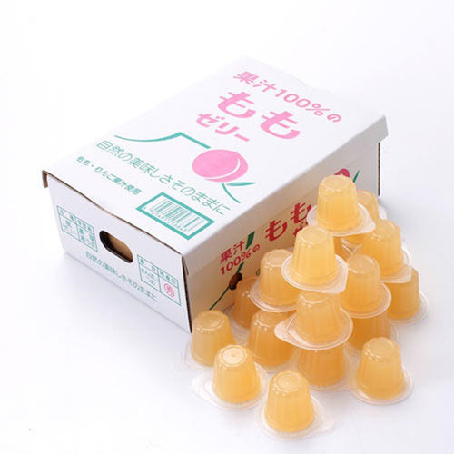 AS FOODS 100% Fruit Juice Jelly Peach Flavor | 和歌山 100% 水蜜桃汁 啫喱 23個入