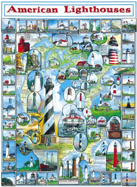 American Lighthouses Puzzle (WMP132)