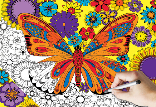 June Butterfly (Coloring Puzzle)