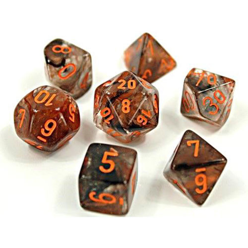 Dice 7ct. Nebula Copper Matrix/Orange (Lab Dice)