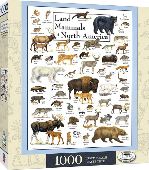 Land Mammals of North America (1000 pcs)