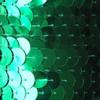 Sequin Trim 10mm Green Metallic