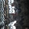 Sequin Trim 10mm Hematite Shiny Gray Metallic