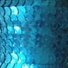 Sequin Trim 10mm Turquoise Teal Metallic